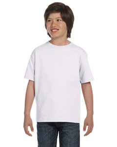 White Youth 5.2 oz. ComfortSoft® Cotton T-Shirt
