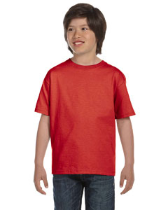 Deep Red Youth 5.2 oz. ComfortSoft® Cotton T-Shirt