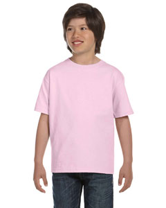 Pale Pink Youth 5.2 oz. ComfortSoft® Cotton T-Shirt