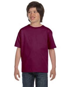 Maroon Youth 5.2 oz. ComfortSoft® Cotton T-Shirt