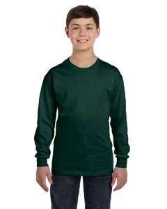 Deep Forest Youth 6.1 oz. Tagless® ComfortSoft® Long-Sleeve T-Shirt