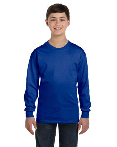 Deep Royal Youth 6.1 oz. Tagless® ComfortSoft® Long-Sleeve T-Shirt
