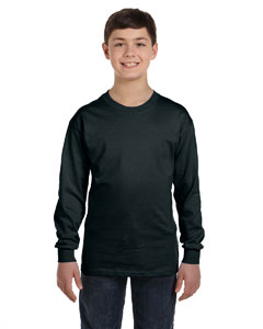 Black Youth 6.1 oz. Tagless® ComfortSoft® Long-Sleeve T-Shirt
