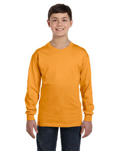 Gold Youth 6.1 oz. Tagless® ComfortSoft® Long-Sleeve T-Shirt
