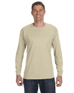 Sand 6.1 oz. Tagless® ComfortSoft® Long-Sleeve T-Shirt