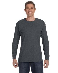 Charcoal Heather 6.1 oz. Tagless® ComfortSoft® Long-Sleeve T-Shirt