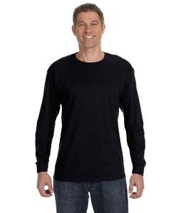 Black 6.1 oz. Tagless® ComfortSoft® Long-Sleeve T-Shirt