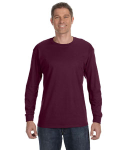 Maroon 6.1 oz. Tagless® ComfortSoft® Long-Sleeve T-Shirt