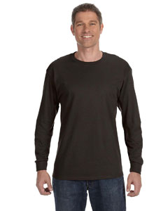 Dark Chocolate 6.1 oz. Tagless® ComfortSoft® Long-Sleeve T-Shirt