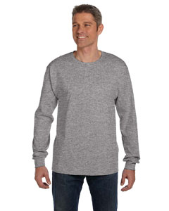 Light Steel 6.1 oz. Tagless® ComfortSoft® Long-Sleeve Pocket T-Shirt