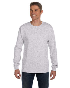 Ash 6.1 oz. Tagless® ComfortSoft® Long-Sleeve Pocket T-Shirt