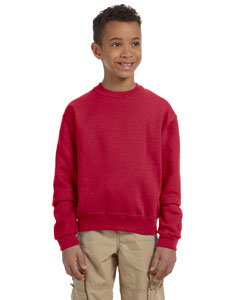 True Red Youth 8 oz., 50/50 NuBlend® Fleece Crew