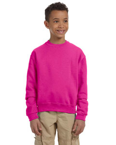 Cyber Pink Youth 8 oz., 50/50 NuBlend® Fleece Crew