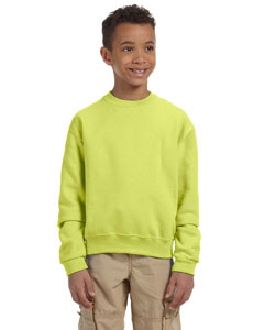 Safety Green Youth 8 oz., 50/50 NuBlend® Fleece Crew