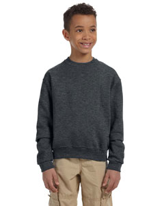 Charcoal Grey Youth 8 oz., 50/50 NuBlend® Fleece Crew