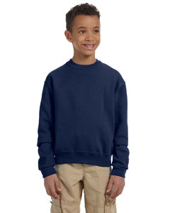 J Navy Youth 8 oz., 50/50 NuBlend® Fleece Crew