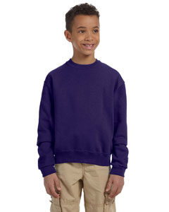 Deep Purple Youth 8 oz., 50/50 NuBlend® Fleece Crew