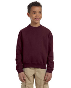 Maroon Youth 8 oz., 50/50 NuBlend® Fleece Crew