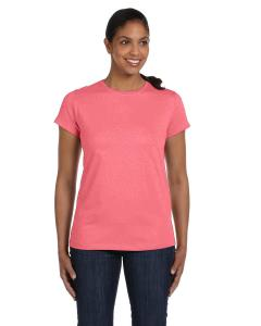 Charisma Coral Women's 5.2 oz. ComfortSoft® Cotton T-Shirt