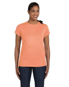 Candy Orange Women's 5.2 oz. ComfortSoft® Cotton T-Shirt