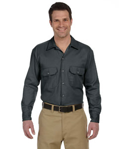 Charcoal Men's 5.25 oz. Long-Sleeve Work Shirt