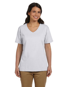 Ash Women's 5.2 oz. ComfortSoft® V-Neck Cotton T-Shirt