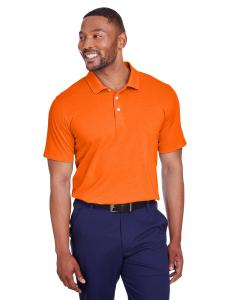 Vibrant Orange Mens Fusion Polo