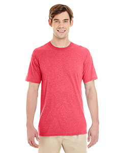 Fiery Red Hthr Adult 4.5 oz. TRI-BLEND T-Shirt