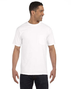 White 6.1 oz. Garment-Dyed Pocket T-Shirt