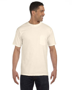Ivory 6.1 oz. Garment-Dyed Pocket T-Shirt