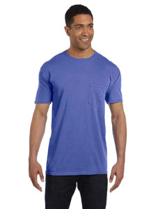 Periwinkle 6.1 oz. Garment-Dyed Pocket T-Shirt