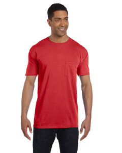 Red 6.1 oz. Garment-Dyed Pocket T-Shirt