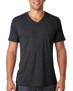 Vintage Black Men's Triblend V-Neck Tee