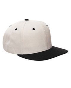 Natural/black 6-Panel Structured Flat Visor Classic Snapback