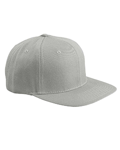 Heather Grey 6-Panel Structured Flat Visor Classic Snapback