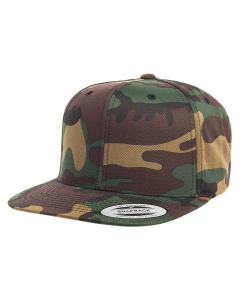 Camo 6-Panel Structured Flat Visor Classic Snapback