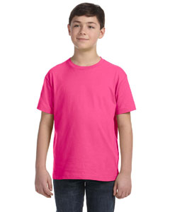 Hot Pink Youth Fine Jersey T-Shirt