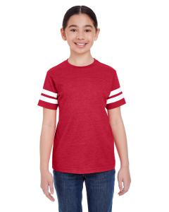 Vn Red/ Bld Wht Youth Football Fine Jersey T-Shirt