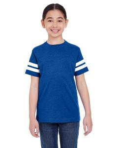 Vn Royal/ Bd Wht Youth Football Fine Jersey T-Shirt