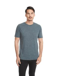 Indigo Men's Poly/Cotton Short-Sleeve Crew Tee