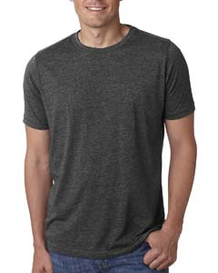 Charcoal Men's Poly/Cotton Short-Sleeve Crew Tee