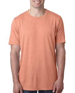 Light Orange Men's Poly/Cotton Short-Sleeve Crew Tee
