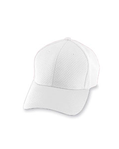 White Adult Athletic Mesh Cap