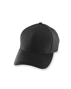 Black Adult Athletic Mesh Cap