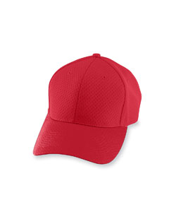 Red Adult Athletic Mesh Cap