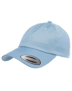 Light Blue Adult Low-Profile Cotton Twill Dad Cap