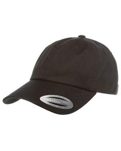 Black Adult Low-Profile Cotton Twill Dad Cap