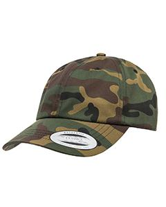Green Camo Adult Low-Profile Cotton Twill Dad Cap