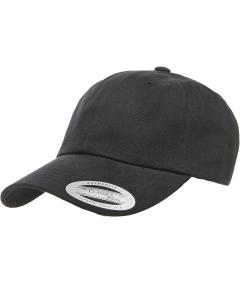 Black Adult Peached Cotton Twill Dad Cap