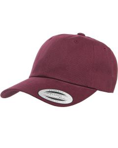 Maroon Adult Peached Cotton Twill Dad Cap